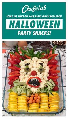 Halloween Party Snacks, Halloween Food Dishes, Halloween Finger Foods, Creepy Halloween Food, Haloween Party, Healthy Halloween, Theme Halloween, Halloween Desserts, Diy Halloween