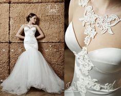 Wedding dress. Mermaid wedding dress. Couture by DressesLioness