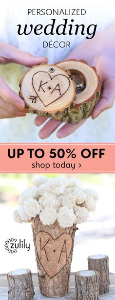 Sign up to shop personalized wedding decor, up to 50% off. Celebrate the new couple by gifting personalized décor and accessories that commemorate their union. Whether it's something for the wedding day itself or an accent for their happy home, these finds spread the love. Deal ends 11/23.