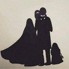 Cute Muslim Couples, Muslim Girls, Cute Couples, Anime Muslim, Muslim Hijab, Islam Muslim, Couple Sketch, Couple Drawings, Couple Musulman