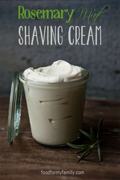 Gift this DIY Homemade Rosemary Mint Shaving Cream for Dad on Father's Day
