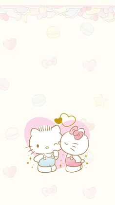 Sanrio Wallpaper, Hello Kitty Wallpaper, Kawaii Wallpaper, Wallpaper Iphone Cute, Cute Wallpapers, Hello Kitty Art, Hello Kitty Themes, Hello Kitty My Melody, Sanrio Hello Kitty