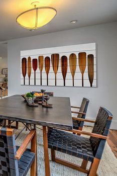 Parvez Taj Canoe Paddles White Pine Wood Wall Art