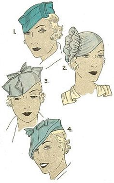 Vintage 30s Sculptural Chapeaux Hat Millinery by VtgFashionLibrary