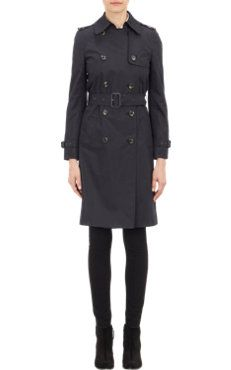 Barneys New York Double-Breasted Trench Coat