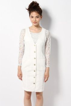 Limitless Luxury(リミットレス ラグジュアリー) ホワイトタイトジャンパースカート。 | スタイルクルーズ