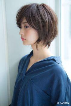 Asian Short Hair, Asian Hair, Short Hair Cuts, Hair Color And Cut, Haircut And Color, Short Bob Hairstyles, Cool Hairstyles, Haircuts, Medium Hair Styles
