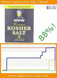 Morton Coarse Kosher Salt, 3 Pound (Grocery). Drop 88%! Current price $2.11, the previous price was $17.65. https://www.adquisitio-usa.com/morton/coarse-kosher-salt-3