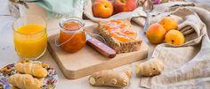Μαρμελάδα βερίκοκο-ροδάκινο χωρίς ζάχαρη - madameginger.com Peanut Butter, Brunch, Food And Drink, Dairy, Sweets, Sugar, Cheese, Healthy, Breakfast