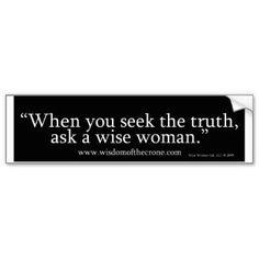 Crone Wisdom ..