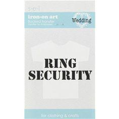 S.E.I. Ring Security Iron-On Art Flocked Transfer | Shop Hobby Lobby