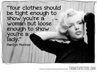 Marilyn Monroe Quote, Great Advice!