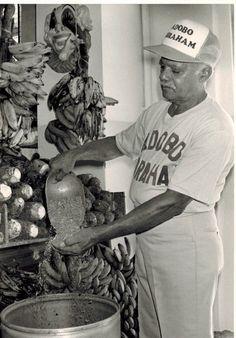 Abraham Rosa preparing the seasoning! Learn more about our seasoning http://abrahamrosaseasonings.com/