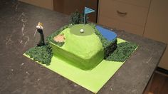First forage into cake decorating....Golf Cake for mum's birthday