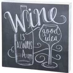 Celebrate your love of vino with this chalkboard-inspired wall decor, perfect hung above the home bar or pub table.Product: Wall ...
