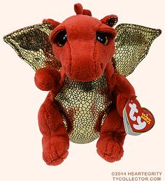 Legend, Ty Beanie Baby red dragon reference information and photograph. Ty Beanie Boos, Beanie Babies, Happy Baby, Happy Kids, Ty Plush, Ty Babies, Ty Toys, Big Eyes, Plushies