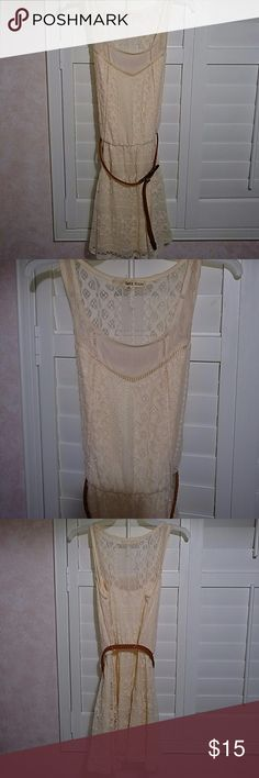 Reallu cute nude lace dress. I love this dress! It is really pretty on and it can be worn with or without the belt. I preferred it without especially since the strings that the belt goes through isn't that noticeable, but of course it can be worn either way. Dresses Midi