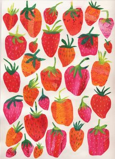 Tracey English Strawberries. www.tracey-english.co.uk