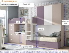 Amazing Bunk Bed Designs With Dimension - Engineering Discoveries Bed For Girls Room, Bedroom Decor For Teen Girls, Baby Bedroom, Girl Room, Train Bedroom, Home Room Design, Kids Room Design, Cool Bunk Beds, Kid Beds