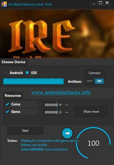 After hard work and dedication we are now happy to present Ire Blood Memory hack tool for android ios and all devices ! This hack can generate