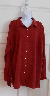 Womans shirt long sleeve lt burgandy, office casual sz 2x