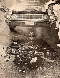 Old race pic. If you lived the 60's you will remember the unpleasant term that described loosing one's stomach being used to describe blowing an engine, and that term is the epitome of descriptives for this failure.