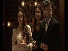 Karishma Kapoor and Raveena Tandon at Mukesh Ambani's dinner party.
