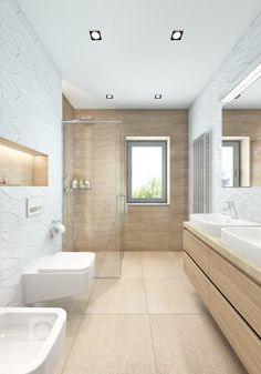 On the property market: dream bathrooms Bathroom Design Layout, Bathroom Design Luxury, Modern Bathroom Design, Contemporary Bathrooms, Dream Bathrooms, Small Bathroom, Master Bathroom, Zen Bathroom, White Bathroom