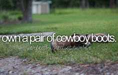 own a pair of cowboy boots.