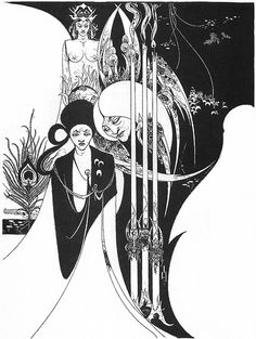 Aubrey Beardsley, Of a Neophyte, and How the Black Art Was Revealed unto Him by the Fiend Asomuel, 1893 by Gatochy, via Flickr