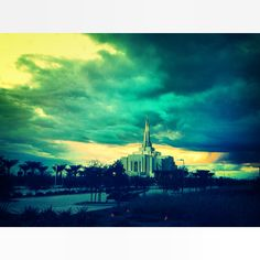 Gilbert Arizona Temple Mormon LDS The blue hues are unique and lovely!