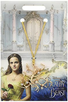 Disney+Beauty+and+the+Beast+Official+Movie+Merchandise+Tree+of+Life+Pendant+Necklace