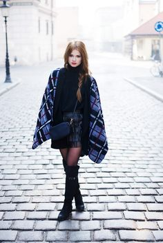 fringe skirt with chic outerwear