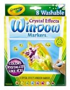 Washable Window Fx Markers Conical Astd Crystalized Colors 8 Pack