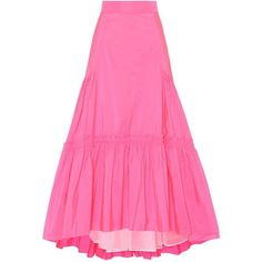 Peter Pilotto Taffeta Long Skirt (26.590 ARS) ❤ liked on Polyvore featuring skirts, pink, long taffeta skirt, pink long skirt, floor length skirts, long pink maxi skirt and long skirts