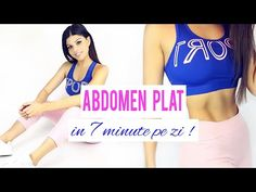ABDOMEN PLAT IN 7 MINUTE PE ZI ! / EXERCITII ACASA/ 7 Min Abs Workout [HD] - YouTube Gym Youtube, 7 Minutes, Chest Workouts, Workout Videos, Abs, Yoga, Sports, Check, Diet