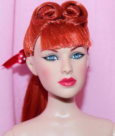 "TONNER 16"" ROCKABILLY BASIC MAXINE REDHEAD BW NUDE DOLL T15RTBD02 W/ BOX STAND #Tonner #Dolls"