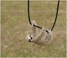 Tiny Swinging Felt Animal Jewelry by Motley Mutton - The Beading Gem's Journal