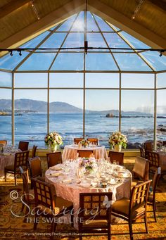 Pebble Beach Wedding And Reception With An Ocean Side View