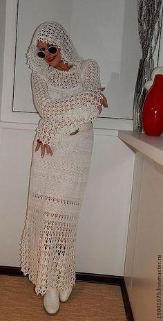 """Купить ИЗЫСКАННОЕ ПЛАТЬЕ """"БЕЛОСНЕЖНЫЙ КАПРИЗ"""" - авторское платье, авторская ручная работа, однотонный"""