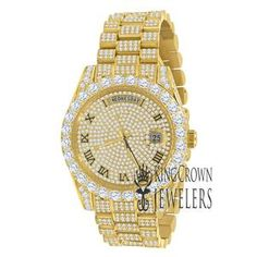 Gold And Silver Watch, Gold Watch, Diamond Watches For Men, Silver Labs, Stainless Steel Material, Lab Diamonds, Hamsa Hand, Beautiful Watches, Diamond Stone