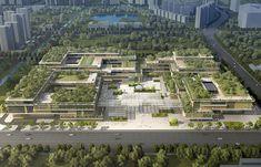 成都高新文化中心投标方案之一 / 天华建筑设计公司