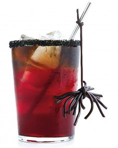 "Creepy Cocktail Recipe - Party guests will love sipping this Halloween ""red rum"" drink"