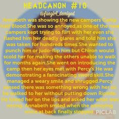 Resultado de imagen de percabeth headcanon