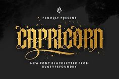 New Capricorn (update) by Rvq Type Foundry on @creativemarket
