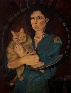 'Last Survivors' is a portrait of Ellen Ripley as portrayed by Sigourney Weaver in the 1979 film Alien. www.brutalsun.com Sara Wagner