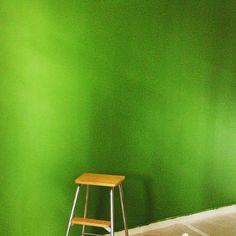 "Bedroom. Green Wall. Tikkurila Harmony ""Basilica"" M384"