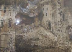 "Kenneth Callahan MacBeth, tempera on paper, 21"" x 29"", 1972 $2300 Tempera, Conservatory, Mid-century Modern, Glass Art, Mid Century, Fine Art, Gallery, Paper, Painting"