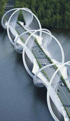 San Shan Bridge, Beijing, China