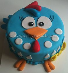 Galinha Pintadinha … PópopoPóPó | Sinhá Açúcar by Fernanda L… | Flickr Birthday Cake Writing, Happy Birthday Cakes, Bolo Laura, Chicken Cake, Cake Models, Farm Cake, Funny Cake, Bird Cakes, Bday Girl